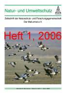 """Zeitschrift """"Natur- und Umweltschutz"""", Heft 1, 2006"""