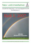 """Zeitschrift """"Natur- und Umweltschutz"""", Heft 1, 2007"""