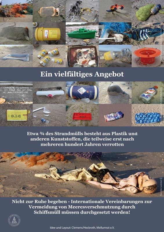 Müll am Strand - na und?, Poster 2 der Müllausstellung des Mellumrates