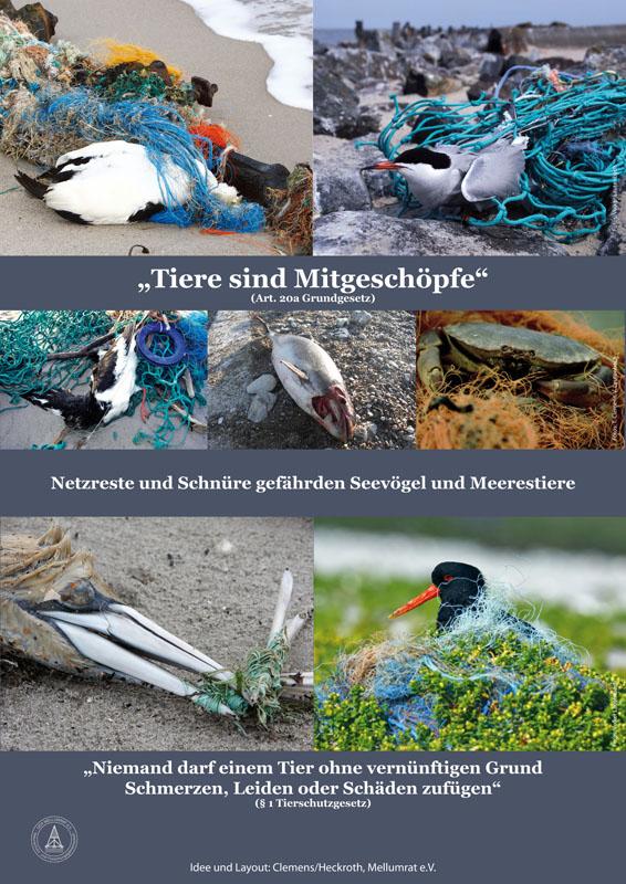 Müll am Strand - na und?, Poster 3 der Müllausstellung des Mellumrates
