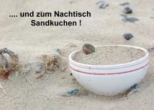 """Postkarte """"... und zum Nachtisch Sandkuchen !"""" © T. Clemens"""