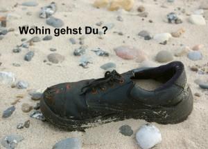 """Postkarte """"Wohin gehst Du ?"""" © T. Clemens"""