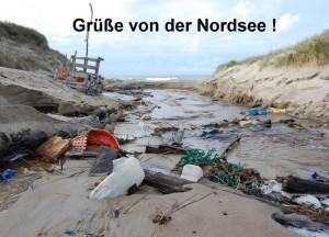 """Postkarte """"Grüsse von der Nordsee !"""" © T. Clemens"""