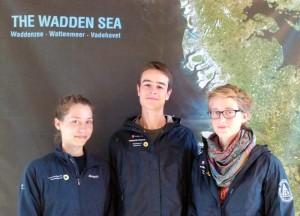 v.l. Sabrina Vogel, Fabian Assfalg und Malin Grüninger, die drei neuen FÖJler auf Wangerooge © NLP-Haus Wangerooge