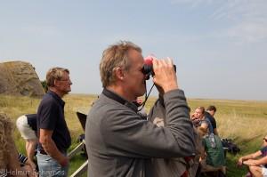 Umweltminister Wenzel bei der Vogelbeobachtung © Mellumrat/Behrends