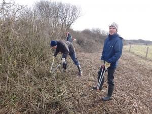 Freiwillige schneiden Gesbüsche zurück © Mellumrat