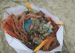Big-Bag voll mit Strandmüll © Mellumrat/Heckroth