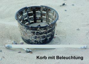 "Postkarte ""Korb mit Beleuchtung"" © T. Clemens"