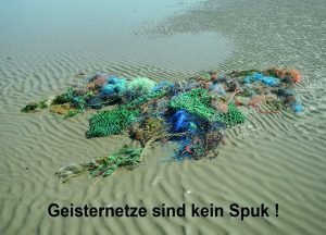 """Postkarte """"Geisternetze sind kein Spuk !"""" © T. Clemens"""