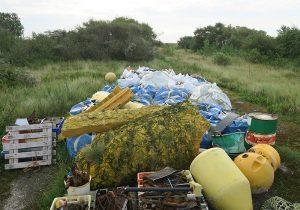 Müllsammelaktion Mellum 2015 Foto: Archiv Mellumrat