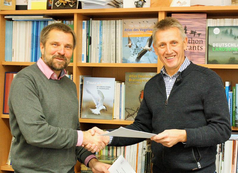 (v.n.l.) Holger Freund , 1.Vorsitzender des Mellumrates, und Peter Südbeck, Leiter der Nationalparkverwaltung - Foto © B. Schmidt/NLPV