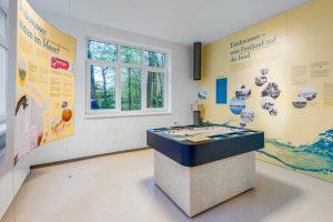 In der bestehenden Ausstellung wurde nun die neue Refill-Station integriert Foto: Kes van Surksum / Kurverwaltung Wangerooge