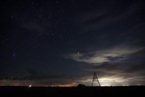Nächtlicher Himmel über Mellum Foto: Jil Gagelmann