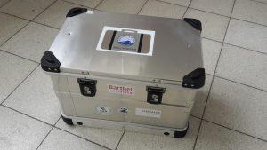 Müllkoffer des ICBM - geschlossen und transportbereit Foto: ICBM