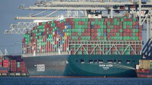 Die Ever Given im Hafen von Rotterdam, März 2020 Foto: (CC) Tom Kees