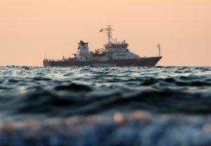 Schiff der Küstenwache Foto: SDN Schutzgemeinschaft Deutsche Nordseeküste e.V.
